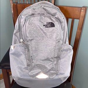 North face book bag.